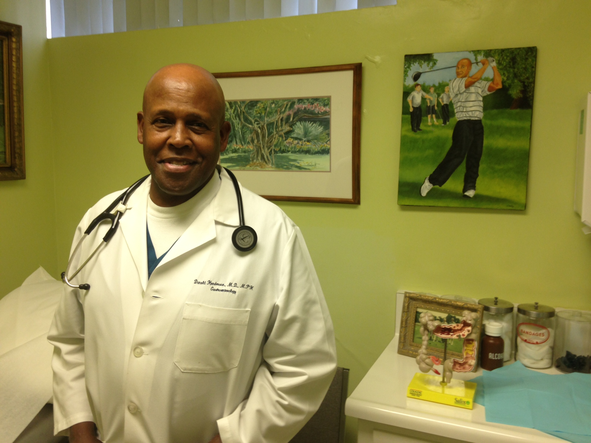 Dr. Donald Henderson, a gastroenterologist in his Inglewood office. Photo by Avishay Artsy