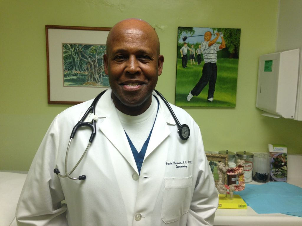 Dr. Donald Henderson, a gastroenterologist and colorectal cancer specialist, at his office in Inglewood. Photo by Avishay Artsy