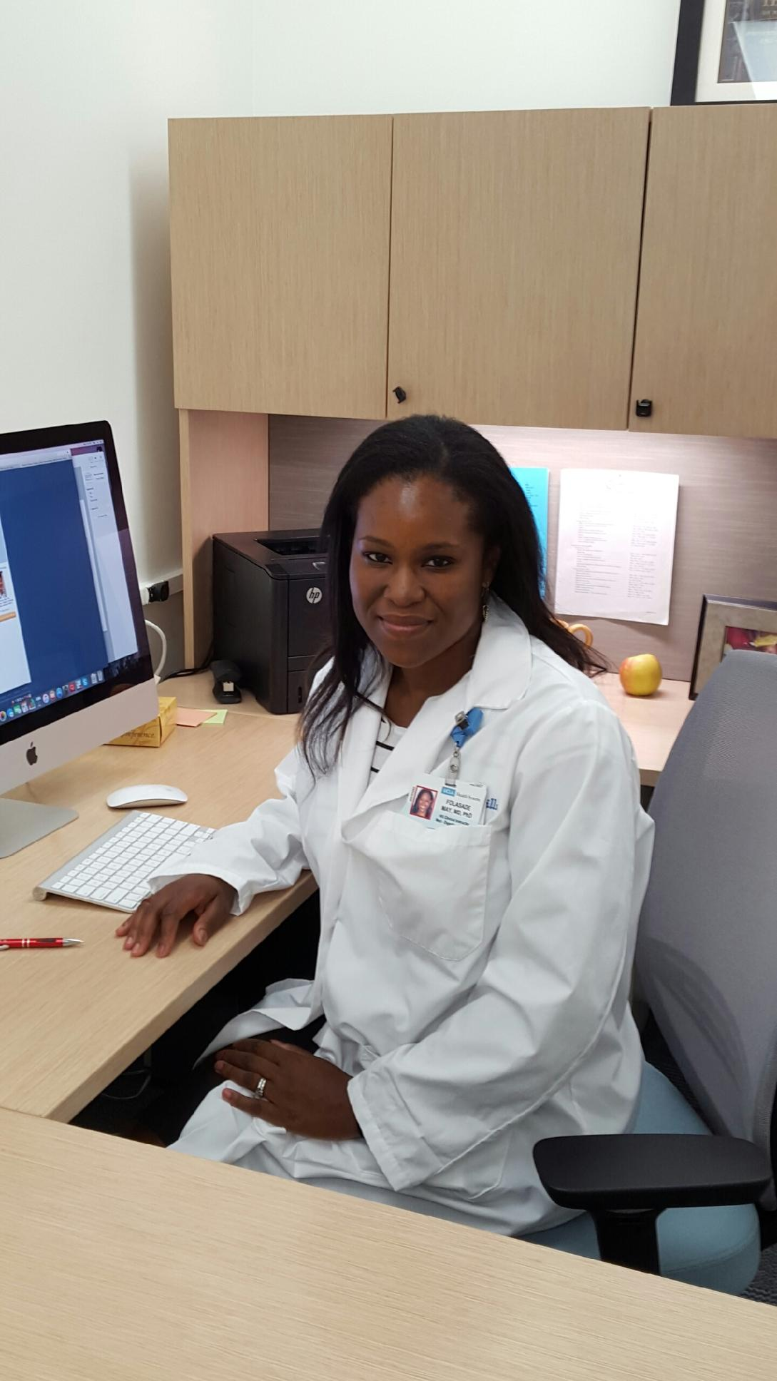 Dr. Fola May, Assistant Professor of Medicine in UCLA's Division of Digestive Diseases
