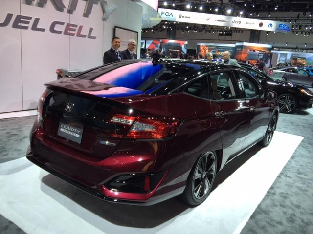 Honda's hydrogen fuel cell 'Clarity'. All photos: Steve Chiotakis