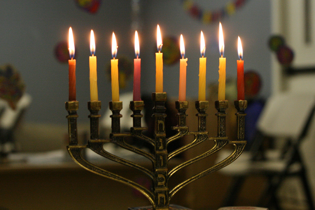 Hanukkah menorah. Photo by Shawn Anderson via Flickr/CC