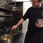 Bernhard, hard at work in the kitchen.