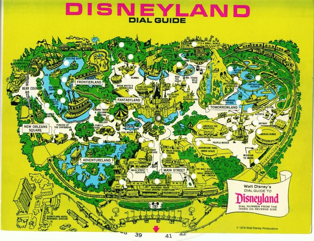 Map Of Disneyland Disneyland's Evolution Through Maps | Design & Architecture Map Of Disneyland