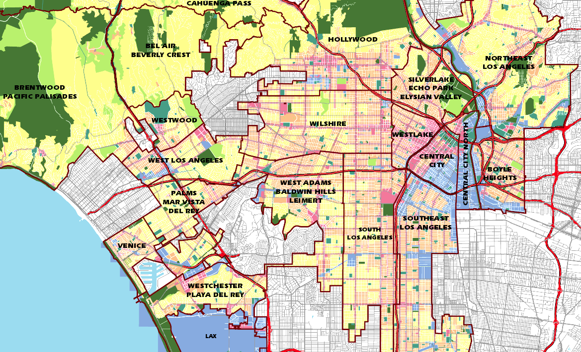 Los Angeles Zoning Map How zoning shaped Los Angeles | Design & Architecture Los Angeles Zoning Map