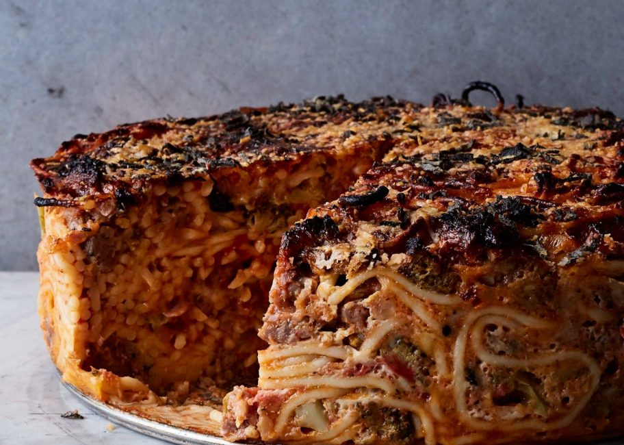 Spaghetti Pie: probably not Stanley Tucci approved