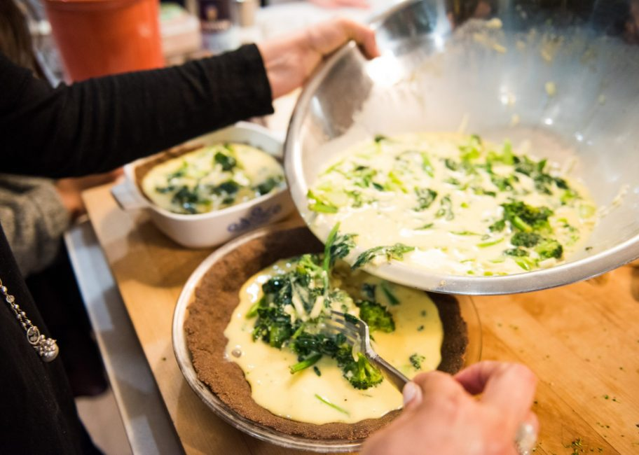 Like water for quiche: a low-water recipe