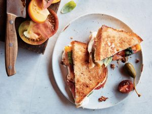 Fancy grilled cheese? Yes, please! Try Eric Greenspan's caprese melt