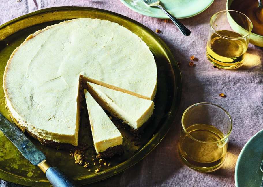 Try this 'genius' persimmon and goat cheese cheesecake